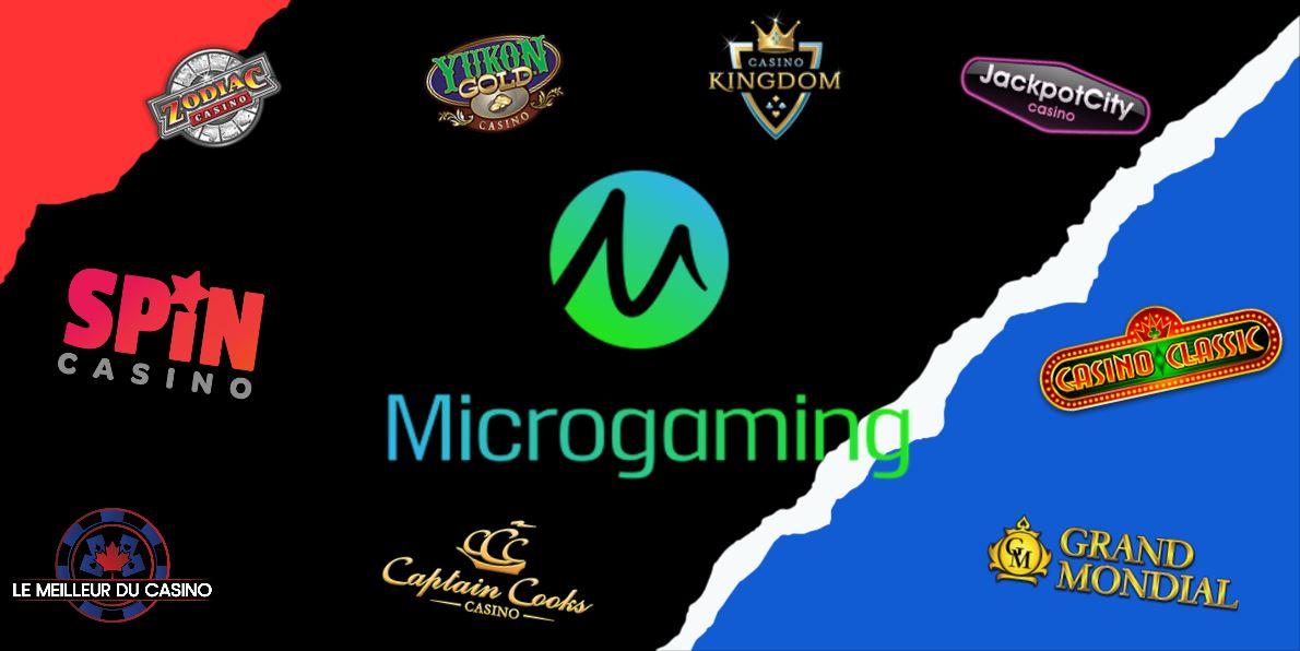 les meilleurs casinos en ligne microgaming