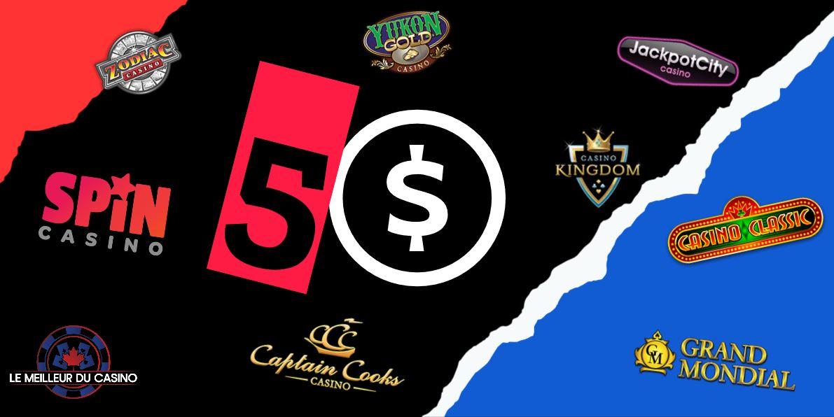 les meilleurs casinos en ligne qui acceptent un depot de 5