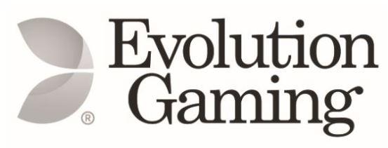 logo du fournisseur de logiciels de croupier en direct Evolution Gaming pour casinos en ligne