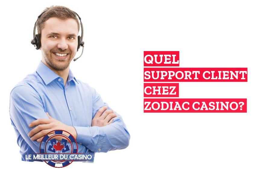 quel support client chez le casino en ligne Zodiac notre avis