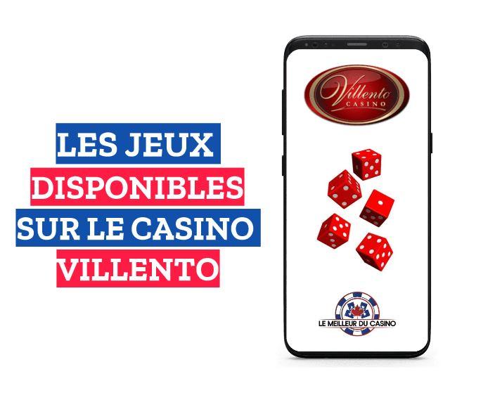 les jeux disponibles sur le casino en ligne Villento