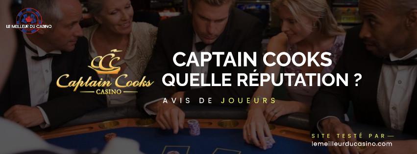 quelle est la reputation aupres des joueurs du site Captain Cooks Casino