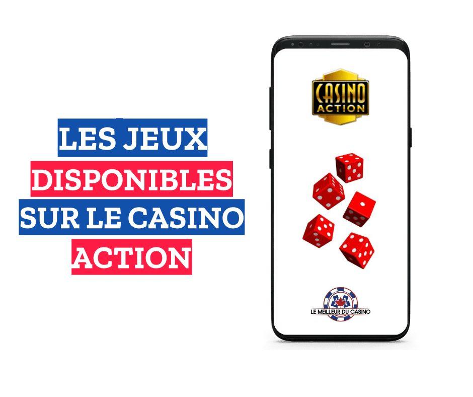 les jeux disponibles sur le casino en ligne Action